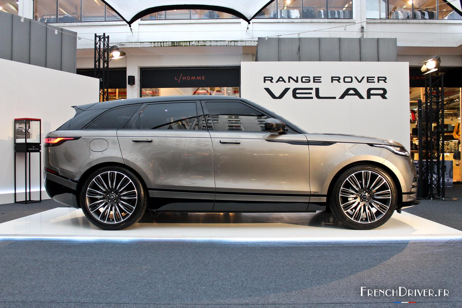 photos le range rover velar fait ses premiers pas paris french driver. Black Bedroom Furniture Sets. Home Design Ideas